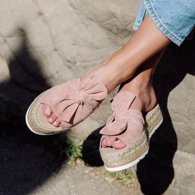 Sweety Bowknot Platform Mule Sandals