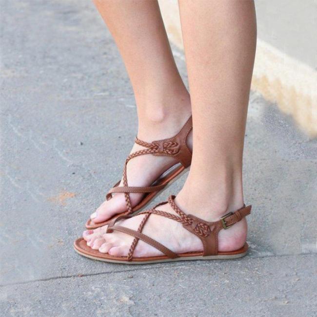 Women Casual Summer Flip-Flops Buckle Strap Sandals
