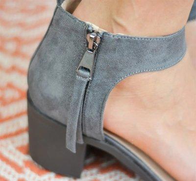 Summer Weaved Peep-Toe Fringe Side-Zip Sandals