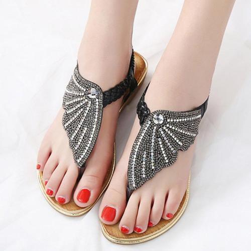 Holiday Summer Flip-flops Sparkling Glitter Sandals