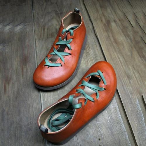 Round Toe Vintage Flats