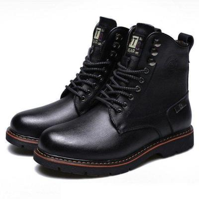 Men's Metal Eyelets High Top Water Resistant Classic Work  Boots