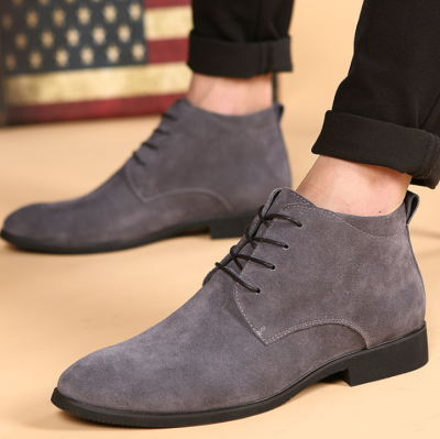 British men's   shoes pointed boots men's Korean casual boots Martin boots