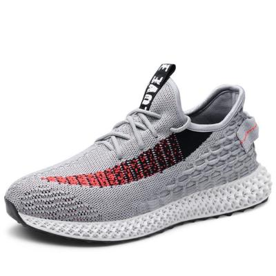 Male flying woven breathable sneakers