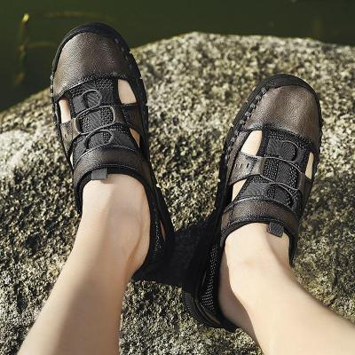Men Leather High Quality Beach Outdoor Sandals Comfortable
