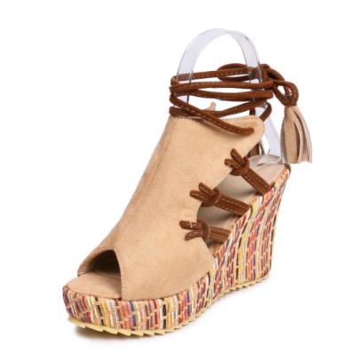 Women Wedge Heels Gladiator Sandals