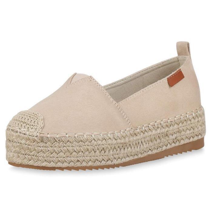 Women'S Espadrilles Sandals With Platform Heel Loafers