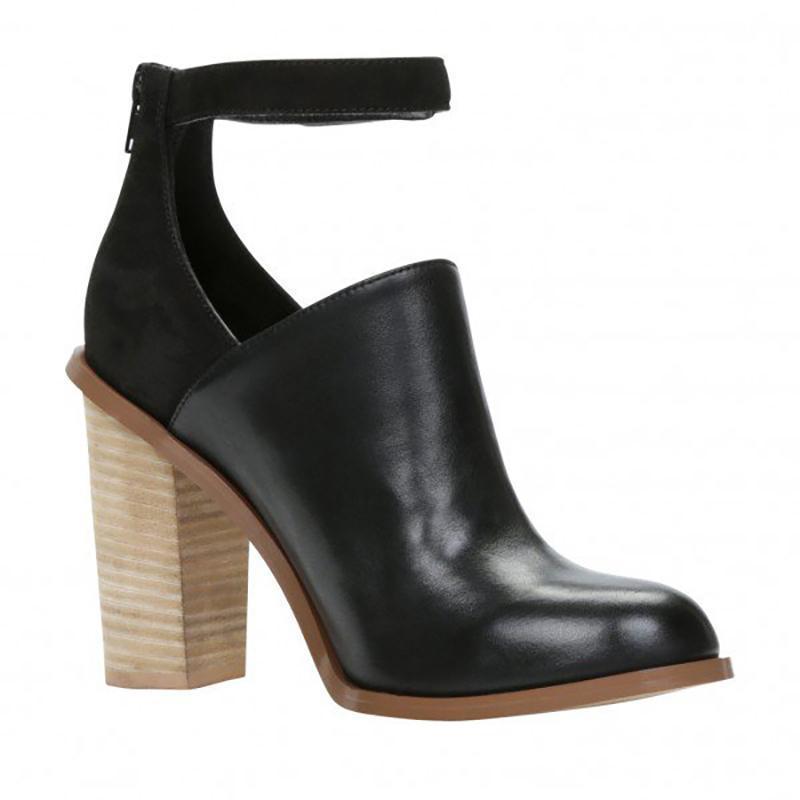 retro chunky heel boots