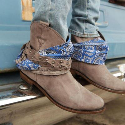 Brown Faux Suede Casual Boots
