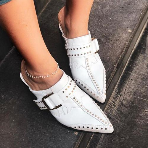 Women's Wild Rivet Pointed High   Heels