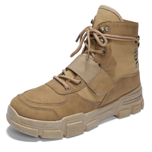 Winter new men's shoes retro high help Martin boots tooling shoes