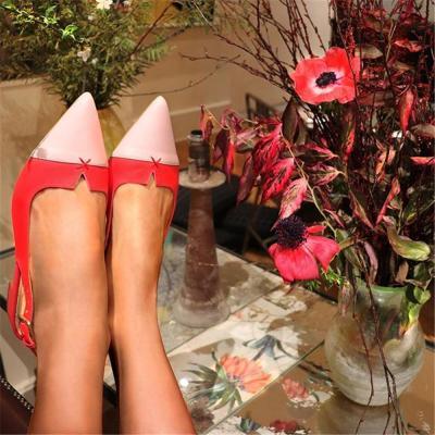 Women's Color Stitching   Versatile Flat Shoes