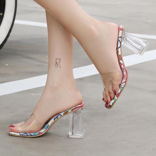 Spring/Summer Chunky Heel Slippers