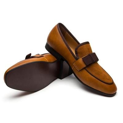 Men's Banquet Suede Patchwork with Bow Tie Loafers