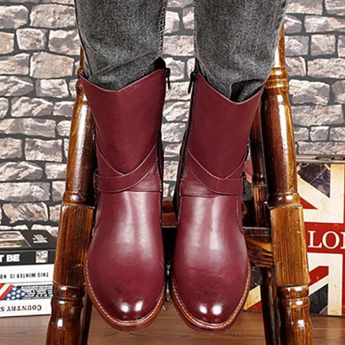 Autumn and winter men's leather Martin boots