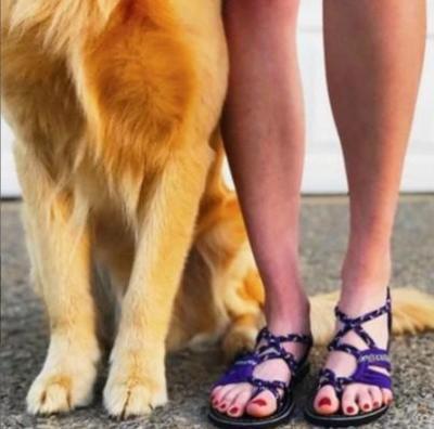 Multiple-color Tie Cross Women's Sandals