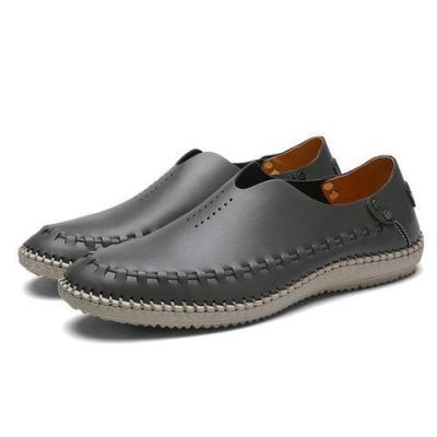 Men Cowhide leather Slip-On Flats Loafers