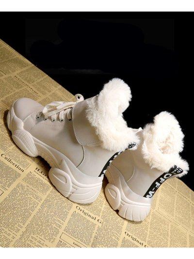White Winter Plus Velvet Women Boots