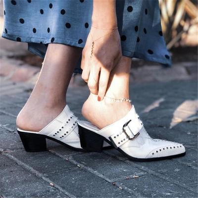 Women's Wild Rivet Pointed High   Heels