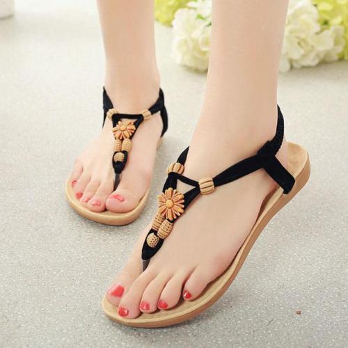 Bohemian  Flat  PU  Casual Sandals