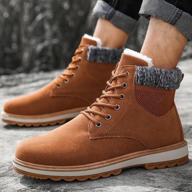 Winter Waterproof P[Added Warm Men's Martin Men Boots