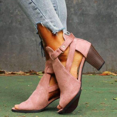 Women's Casual Chunky Heel Back Zipper All Season Booties