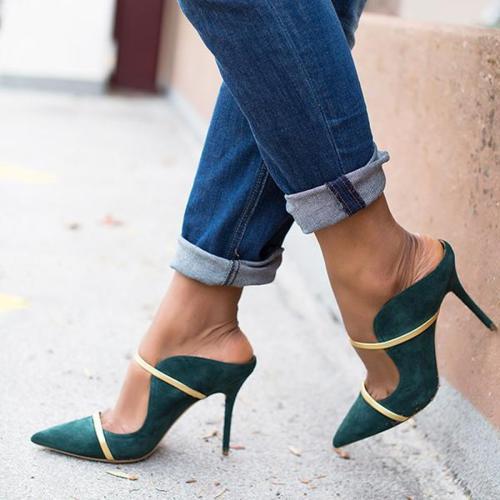 Women  Slip-On Point Toe High Heels