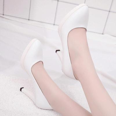 PU Chunky Heel Pointed Toe Elegant Heels