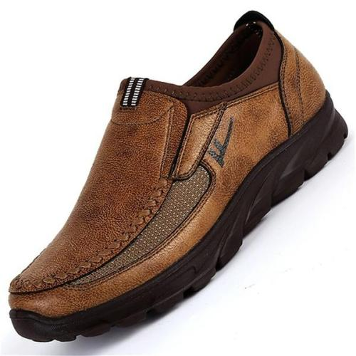 Men Hand Stitching Non-slip Casual Flat Shoes