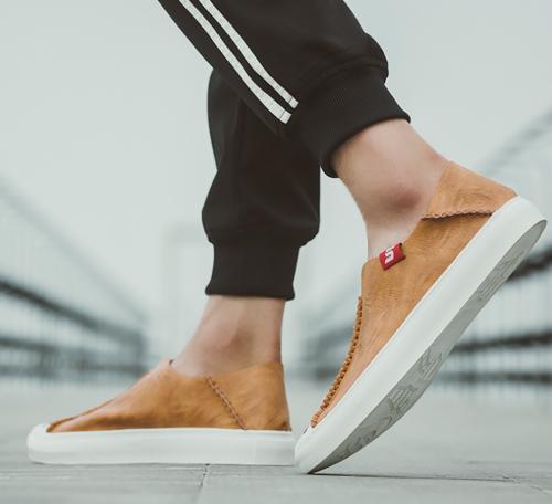 Men's versatile breathable leather casual shoes