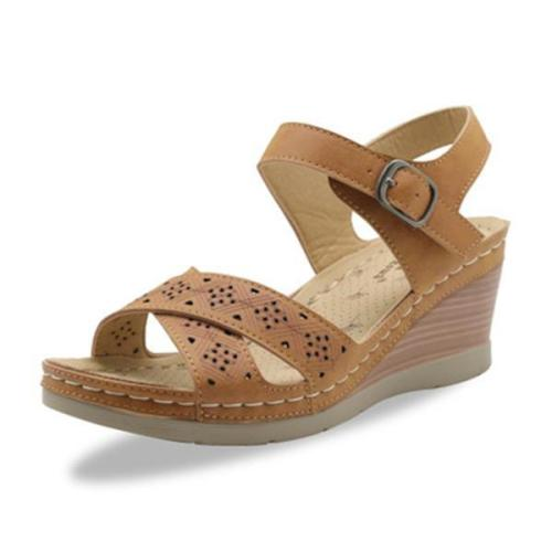 Women Summer Hollow Out Wedge Sandals