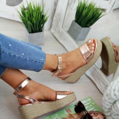 Platform Sandals Fashion Women Strap Fashion Sandal Wedges Shoes Casual Woman Peep Toe