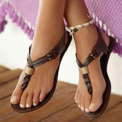 Women Flat Sandals Fashion Flip Flops Shoes