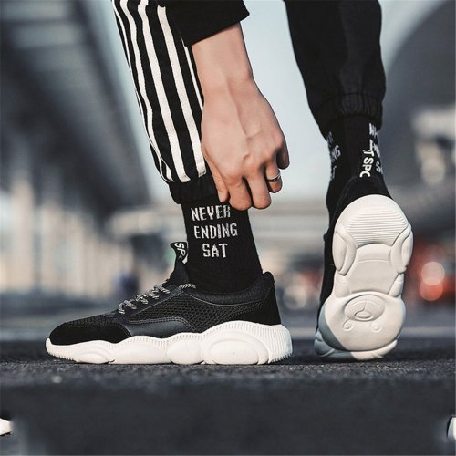 Casual Plain Strappy Thicken Sole Sport Sneakers
