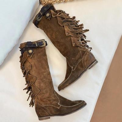 Artificial Leather Low Heel Boots