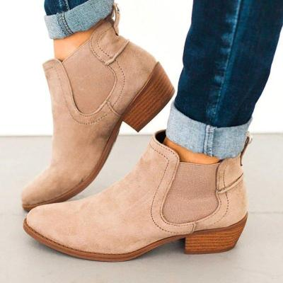 Women Flocking Booties Casual Comfort Plus Size Shoes