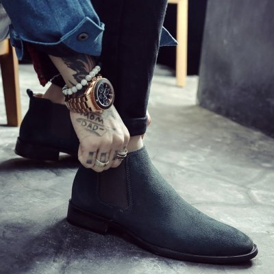 Men's High Leather Chelsea Boots