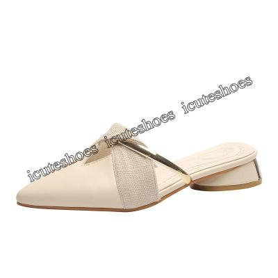 Slipper Women's New Summer Fashion Flat-bottomed Pointed-up Shoes