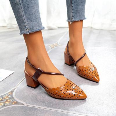 Women's Simple Hollow Pointed   High Heels