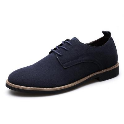 Mens Casual PU Suede Lace-up Flats