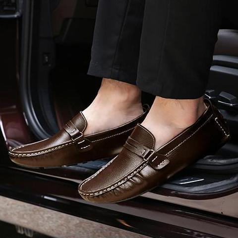 Men Leather Loafers Boat Shoes