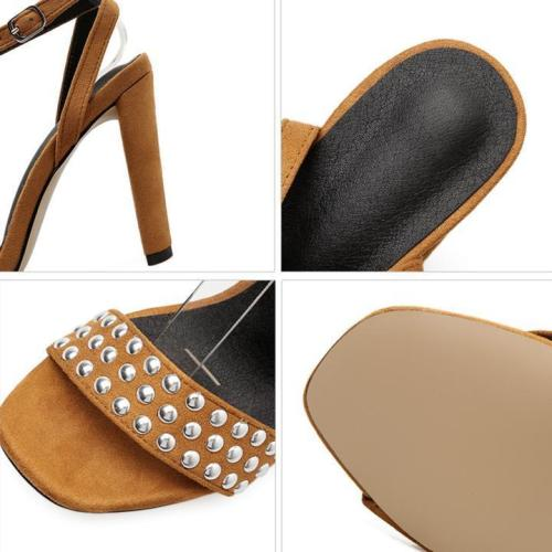 Women Adjustable Buckle Heels Daily Elegant Sandals