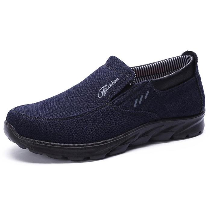 Mens Fabric Breathable Wear Resistant Slip On Soft Casual Shoes