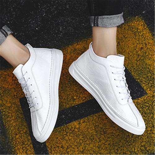Men's lace high-top versatile casual shoes