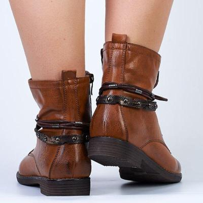 Chunky Heel Lace-up All Season Ankle Boots