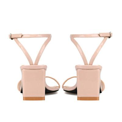 Adjustable Buckle Chunky Heel Date Heels