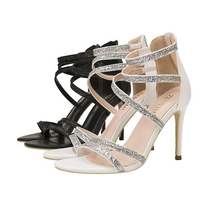 Fashion Party Peep Toe High Heels Night Club Show Thin Sandals Cross Tie Thin Heels Women's Shoes