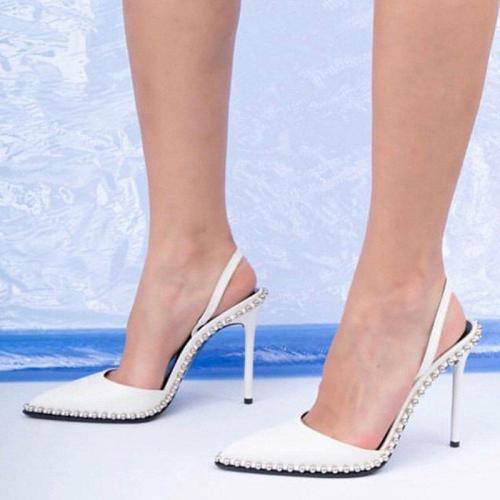 Daily Beading Casual Stiletto Heel Heels