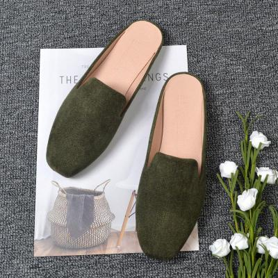 Spring and Autumn New Flat Slippers Female Cozy Outside Wearing Muller