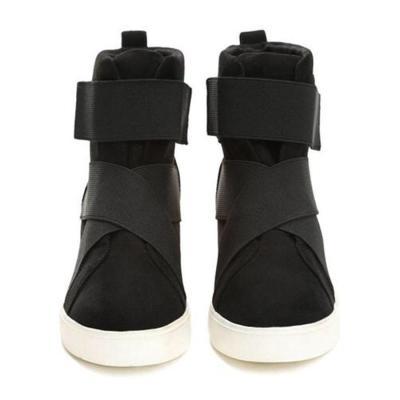 Women's Velvet Casual Outdoor Short Boots Wedges